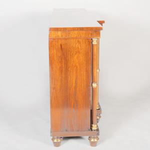 Regency Rosewood and Parcel-Gilt Side Cabinet