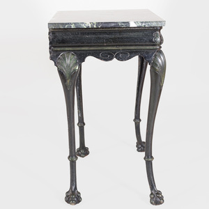 Painted Cast-Iron Console Table