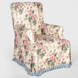 Chintz Slip Covered Armchair