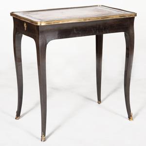 Louis XV Ormolu-Mounted Black Lacquer Table à Écrire