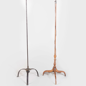 Two Tripod Form Floor Lamps