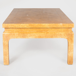 Ocher Lacquer Low Table, in the Chinese Taste