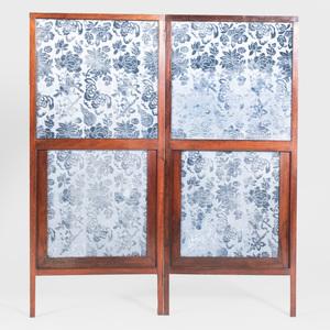 Two Panel Mahogany Screen