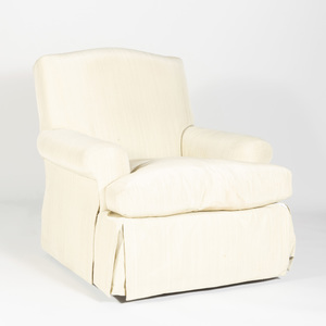 Upholstered Swivel Club Chair, Designed by Michael Taylor, San Francisco