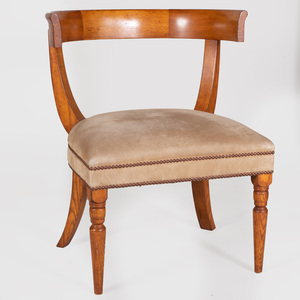 Modern Oak Klismos Chair