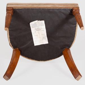 Modern Oak Klismos Chair