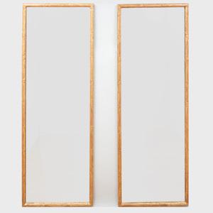 Pair of Modern Giltwood Mirrors