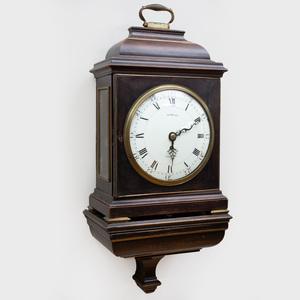 George III Brass-Mounted Ebonized Mahogany Bracket Clock, dial signed Tomlin, London