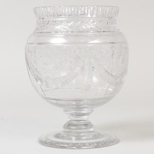 Webb Cut Glass Urn Form Vase