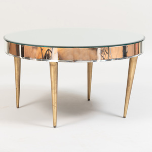 Mirror and Gilt-Metal-Mounted Circular Low Table