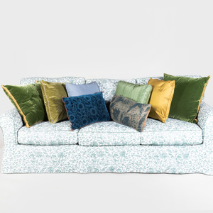Miscellaneous Group of Eight Blue and Green Pillows