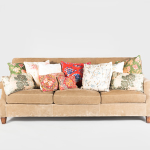 Group of Twelve Patterned Pillows