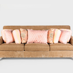 Group of Nine Pink Toned Pillows