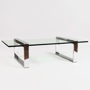 Jones Chrome and Glass Low Table