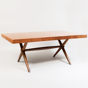 Robsjohn-Gibbings Mahogany Extension Dining Table, for Widdicomb