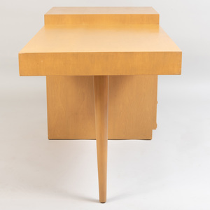 Robsjohn-Gibbings Stained Wood Desk, for Widdicomb