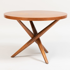 Robsjohn-Gibbings Mahogany Circular Side Table for Widdicomb