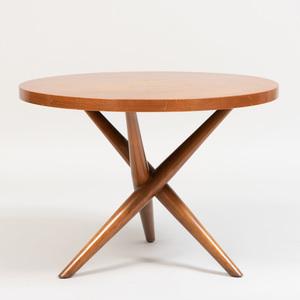 Robsjohn-Gibbings Mahogany Circular Side Table for Widdicomb
