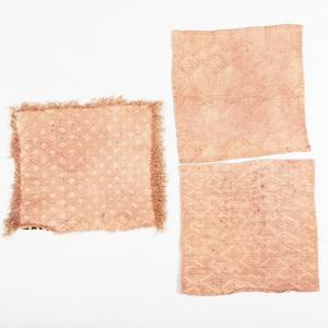 Three Bark Cloth Panels