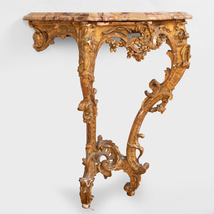 Early Louis XV Carved Giltwood Console