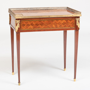 Louis XVI Ormolu-Mounted Sycamore, Tulipwood and Amaranth Marquetry and Parquetry Writing Table