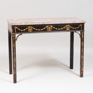 George III Black Japanned Side Table