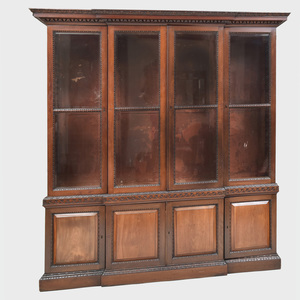 George II Style Mahogany Breakfront Bookcase