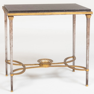 Directoire Style Ormolu and Steel Side Table, in the manner of Adam Weisweiller