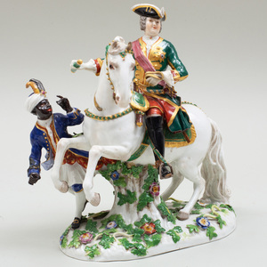 Meissen Porcelain Group of The Russian Empress Elisabeth Petrovna