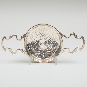George II Silver Tea Strainer