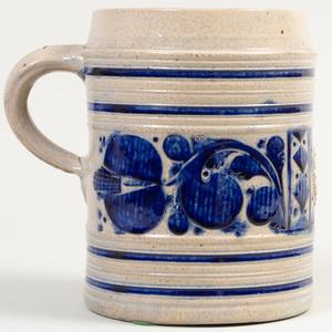 Large Westerwald Salt Glazed Stoneware Mug