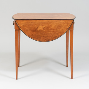 George III Inlaid Satinwood Pembroke Table