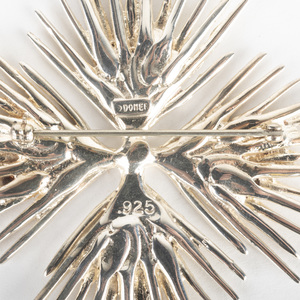 Sterling Silver Star Burst Pin