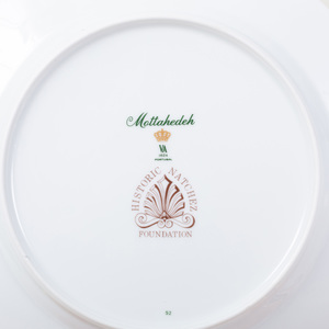 Mottahedeh Porcelain Peach Ground Part Service, in the 'Natchez Shell' Pattern