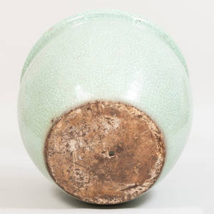 Green Crackle Glazed Pottery Planter