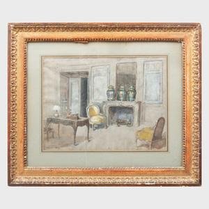 Walter Gay (1856-1937): Le salon au Chateau de Fortoiseau