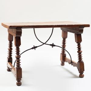 Iberian Walnut and Metal Table