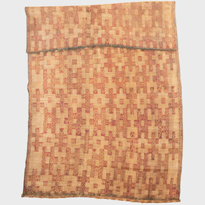 Tuareg Woven Leather and Reed Carpet