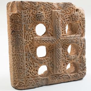 Medieval Carved Sandstone Panel