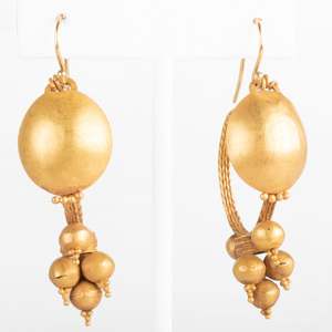 Pair of Roman 22k Gold Earrings