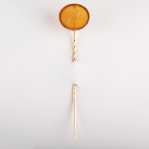 Carnelian Agate Intaglio Stick Pin with Dionysus Riding a Panther