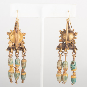 Pair of Egypto Roman Earrings