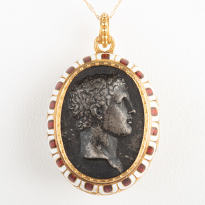 Gold and Enamel Locket