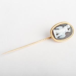 Cameo Stick Pin of Hercules Strangling the Goose