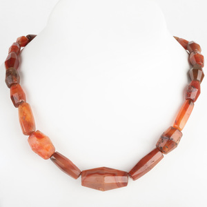 Carnelian Agate Bead Necklace