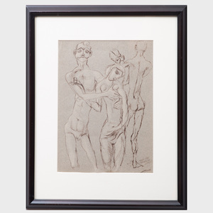 Frederico Castellón (1914-1971): Study for Bengalese Lovers;  Study for the Judgement;  The Alchemist's Search for Philosopher's Stone; and Elixer of Life