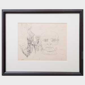 Frederico Castellón (1914-1971): Untitled;  Untitled (face); Untitled (iv); and Untitled (Nude)