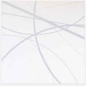 Clifford Singer: Untitled (Gray on White)
