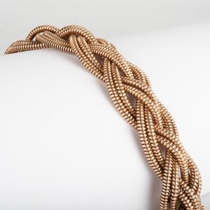 Retro 14k Gold Braided Bracelet