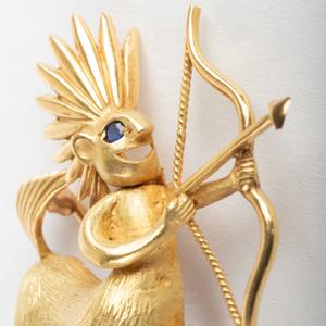 18k Gold Figural Brooch